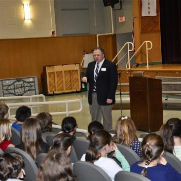 Rep. Briggs visited students at Gladwyne and discussed his role as state representative in the 149th. He also took questions from the students.